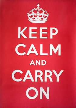 """Keep Calm and Carry On"" Image"