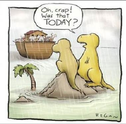 Caricature: Dinosaurs Stranded
