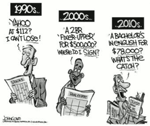 1990, 2000, 2010 Cartoon Satire