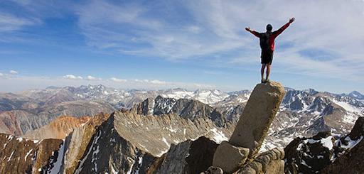 Man On Mountain Image