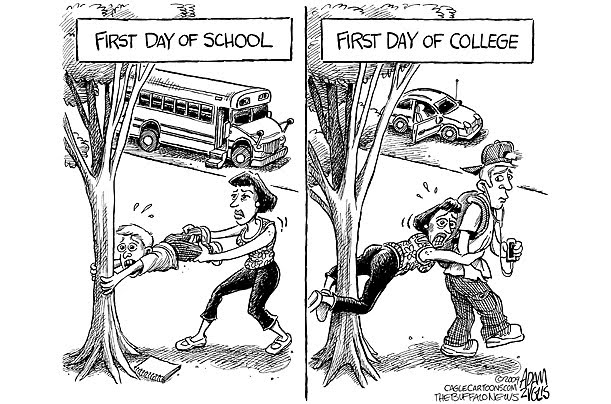 First Day Of College  Creative Marbles Consultancy Cartoon Courtesy Kxojcom Photo Courtesy Mehr Sahota Related Postshow To  Reduce College Costs English Teachers  The College Essay On Commencing  Choosing